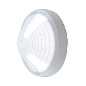 Ebénoid Hublot extérieur fluo 1X13W Ø 250mm blanc polycarbonate lampe 4000K G24d-1 ballast elec CL2 IK08 IP44 SUPER 62 078670