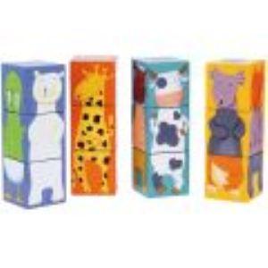 Djeco Cubes animaux couleurs 12 pièces