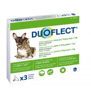 Ceva Duoflect chien 2-10 kg et chat >5 kg 3 pipettes