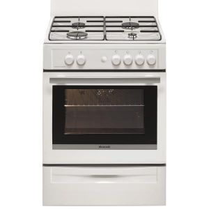 Brandt BCG6600W - Cuisinière tout gaz 4 foyers