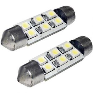EUFAB Ampoule navette LED pour l'habitacle 13295 C5W 12 V S8.5 (Ø x L) 10 mm x 41 mm 1 paire