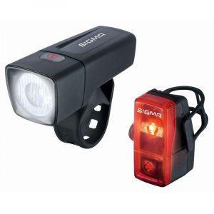 Sigma Sport Aura 25 - Kit éclairage vélo - Cubic rouge/noir Sets de lampes