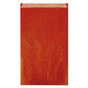 Agipa 101651 - Carton de 250 pochettes kraft à soufflet 12x4x21 cm, coloris rouge