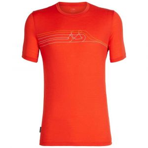 Icebreaker Tech Lite SS Crewe Cadence Pulse T- T-Shirt Homme, Chili Red, FR : M (Taille Fabricant : M)