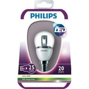 Philips Ampoule LED Sphérique Claire Culot E14 3 Watts Consommés (Équivalence Incandescence 25W)