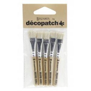 decopatch Pack 5 petits pinceaux pure soie