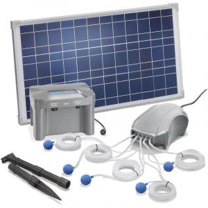 Esotec Aérateur de bassin solaire 25W 600l/h + batterie aération de bassin oxygène 101086