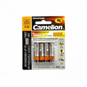 Camelion 4 piles rechargeables ( accus ) AAA / HR03 NiMH 1000mAh