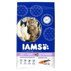 IAMS Multi-Cat Adult riche en saumon norvégien et poulet 3 kg