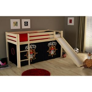 Vipack Furniture Lit Pino Pirates Ii pour enfant avec toboggan 90 x 200 cm