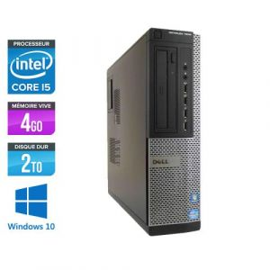 Dell Optiplex 7010 Desktop - Intel Core i5-3470 / 3.20 GHz - RAM 4 Go - HDD 2 To - DVDRW - GigaBit Ethernet - Windows 10 Professionnel