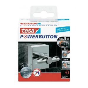 Tesa Powerbutton Deluxe (L x B) 50 mm x 50 mm 59344