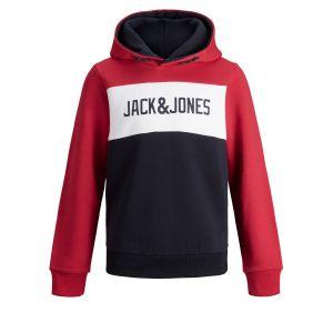 Jack & Jones Sweat - Jjelogo blocking sweat hood jr - 12ANS