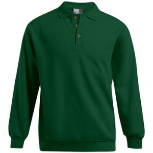 Promodoro Polo sweat manches longues Hommes tion, M, vert forêt