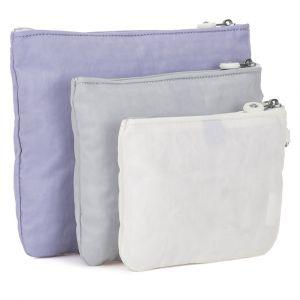 Kipling Ladies IAKA L WRISTLET porte-monnaie / sac à cosmétiques,Lot de 3, Violet (Active Lilac Bl)-28x21.5x1 cm