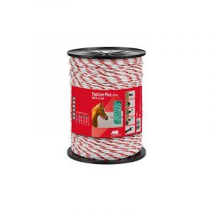 Image de Ako cordelettes de clôture TopLine Plus 400m x 6 mm Blanc / rouge