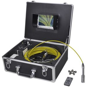 VidaXL Caméra endoscopique pour canalisation avec DVR enregistrement vidéo