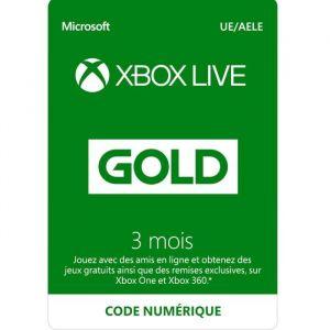Abonnement Xbox Live 3 mois à télécharger [XBOX One]