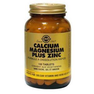 Solgar Calcium magnésium plus zinc - 100 comprimés