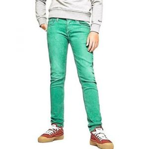 Pepe Jeans Jeans enfant FINLY vert - Taille 4 ans,6 ans,8 ans,10 ans,12 ans,14 ans,16 ans