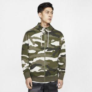 Nike Sweatà capuche en molleton à zip intégral Sportswear Club pour Homme - Olive - Taille M