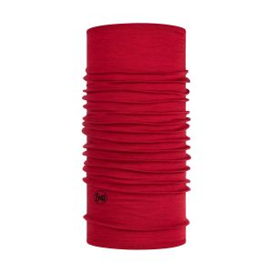 Buff Tours de cou -- Lightweight Merino Wool - Solid Red - Taille One Size