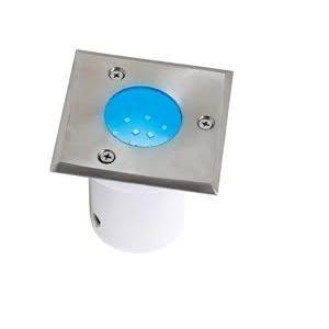 Horoz Electric Spot LED étanche carré bleu 1.2W IP67 encastrable au sol Dim. 95x95x95mm