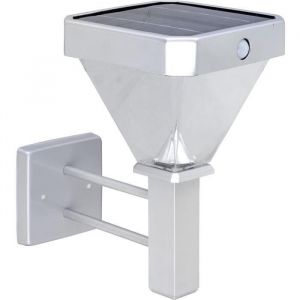 Globo Lighting Applique solaire aluminium gris métallisé - Plastique - IP44