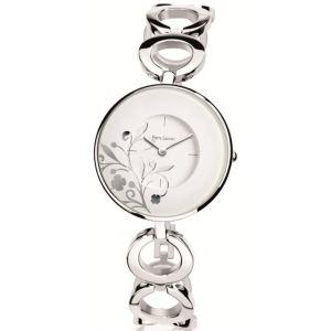 Pierre Lannier 077B6 - Montre pour femme bracelet en acier Flowers