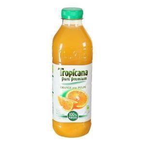 Tropicana Pure Premium : 100% pur jus d'orange avec pulpe (1 L)