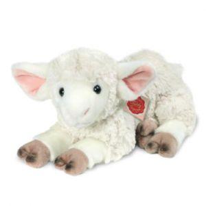 Hermann Teddy Luche agneau couché, 35 cm blanc