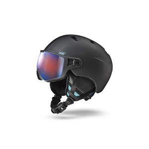 Julbo Strato - Casque de Ski avec visière - Homme - Noir (Bleu) - 58/60 cm