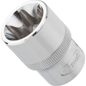 Vigor Carré femelle entraînement 12,5 = 1/2 Douille TORX® pour profil TORX® extérieur V2731 11 L.38 mm
