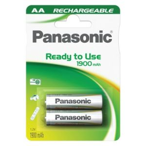 Panasonic 2 piles rechargeables AA Evolta NiMH Mignon 2050 mAh