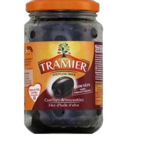 Image de Tramier Olives noires confites dénoyautées sans saumure - La boîte de 150g