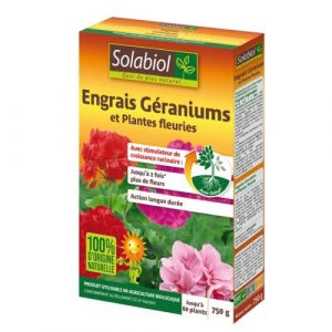 Solabiol ENGRAIS GERANIUMS 750G (Vendu par 1) - SBM LIFE SCIENCE
