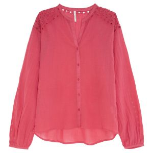 Pepe Jeans Blouse col rond Dori Rouge Framboise - Taille L;M;S;XL;XS