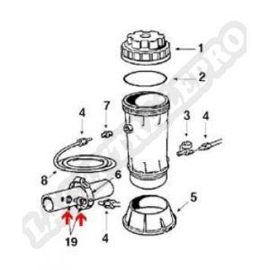 Procopi 9121101 - Adaptateur de tuyau de chlorinateur Hayward CL110