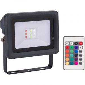 Projecteur LED Couleur 10 W avec télécommande - Multicolore - 10.6 cm