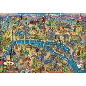 Educa Puzzle 500 pièces : Plan de Paris