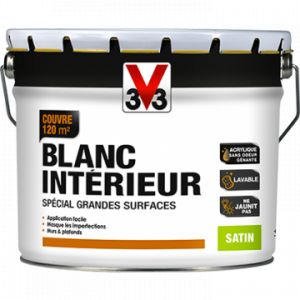 Image de V33 Peinture intérieure spécial grande surface blanc satin 12L