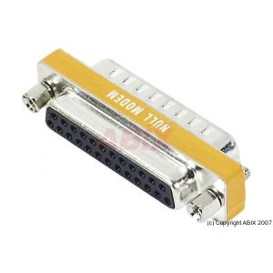 086100 - Mini Adaptateur Null Modem DB25 M/F