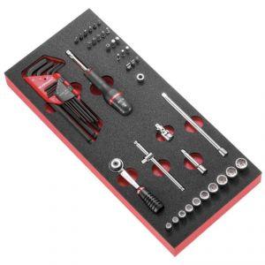 Facom MODM.R1A - Module mousse douilles 6 pans clés mâles et embouts métriques