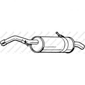 Bosal Silencieux arrière 135-065