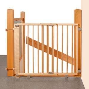 Geuther Barrière d'escalier pivotante Plus 2735+ 95- 135 cm naturel