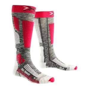 X-Socks Rider 2.0 Lady Chaussettes de Ski Femme, Grey Melange/Violet, FR : L (Taille Fabricant : 39-40)