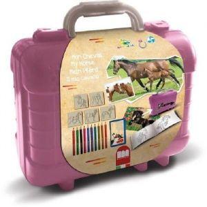 Multiprint Set de voyage malette de dessin Chevaux