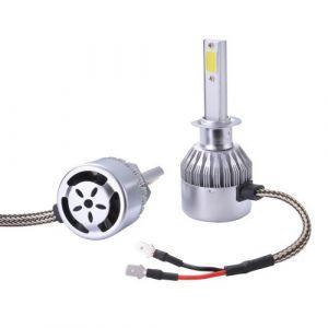 XC Source Xcsource 2pcs Ampoule Lampe Xénon Hid Halogène H1 Phare Voiture Led 10000lm 55w Ventilateur De Refroidissement 6000k Blanc Ld972