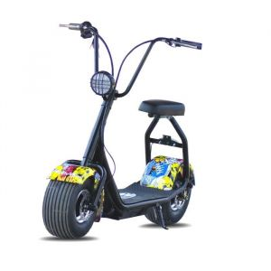 MoovWay Mini scooter électrique - Coco Junior - 500W - 48V - 12Ah - Multigraffiti