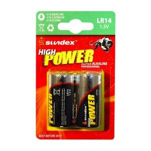 Vision-El Piles (x2) LR14 1.5V Super Alcaline Pro High Power